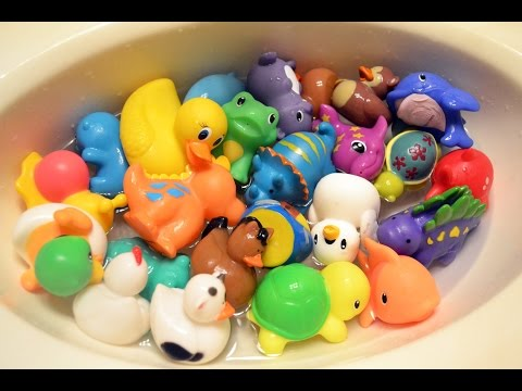 Fun Bath Toys!!! Rubber duckies, dinosaurs, fishes, and many more!