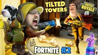 FORTNITE #2 w/ HELLO NEIGHBOR! Looting, Shooting, My Dog is Tooting! (The Tilted Towers Sniper)