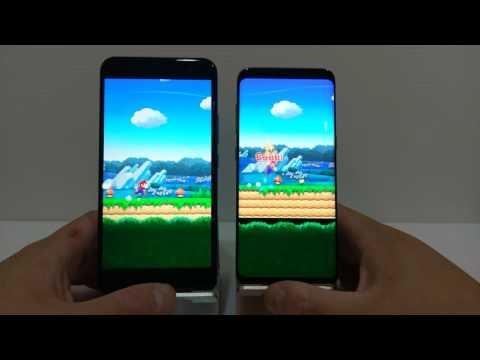 HTC U11 vs 三星 Galaxy S8 玩Mario Run
