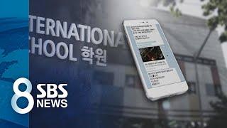 """""""친박집회 나가라, 문자 보내라"""" 학생들 선동한 국제학교 / SBS"""