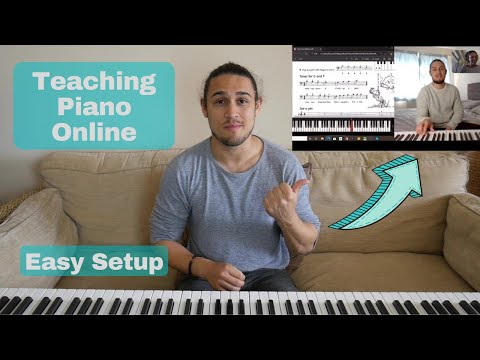 Quick and easy setup for teaching piano lessons online