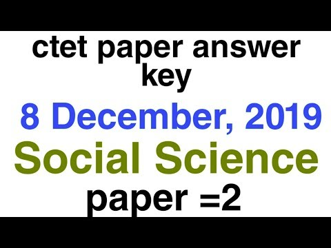 Ctet answers key for TGT Social Science