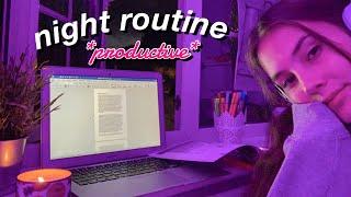 online school night routine *productive*