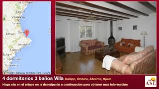 preview picture of video '4 dormitorios 3 baños Villa se Vende en Campo, Ondara, Alicante, Spain'