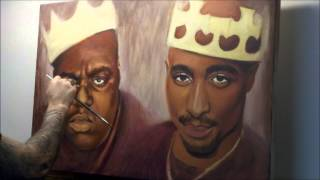 2pac and Biggie speed painting