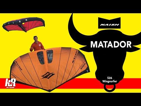 Naish Matador S26 Wingsurfer (inc. Basic Wing Draft & Luff Strut explained)