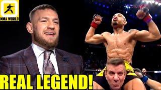 Conor McGregor reacts to former opponent Jose Aldo's impressive UFC 265 win over Munhoz,Dana on Gane
