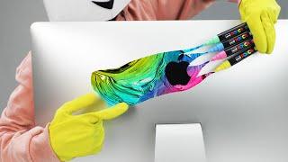 Customising My I Mac Using UNI POSCA Markers