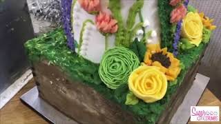 Queen of Hearts Couture Cakes - Christmas Cake - Facebook Live 18/12/17