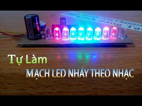 Hướng dẫn làm mạch LED NHÁY THEO NHẠC đơn giản IC AN6884