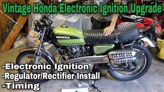 Vintage Honda Electronic Ignition + Charging System Upgrade
