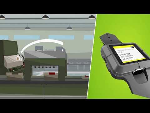 aucobo Industrie Smartwatches in der mobilen Maschinenbedienung