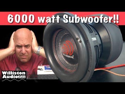Massive Audio 6000 watt RMS Subwoofer!! [4K]
