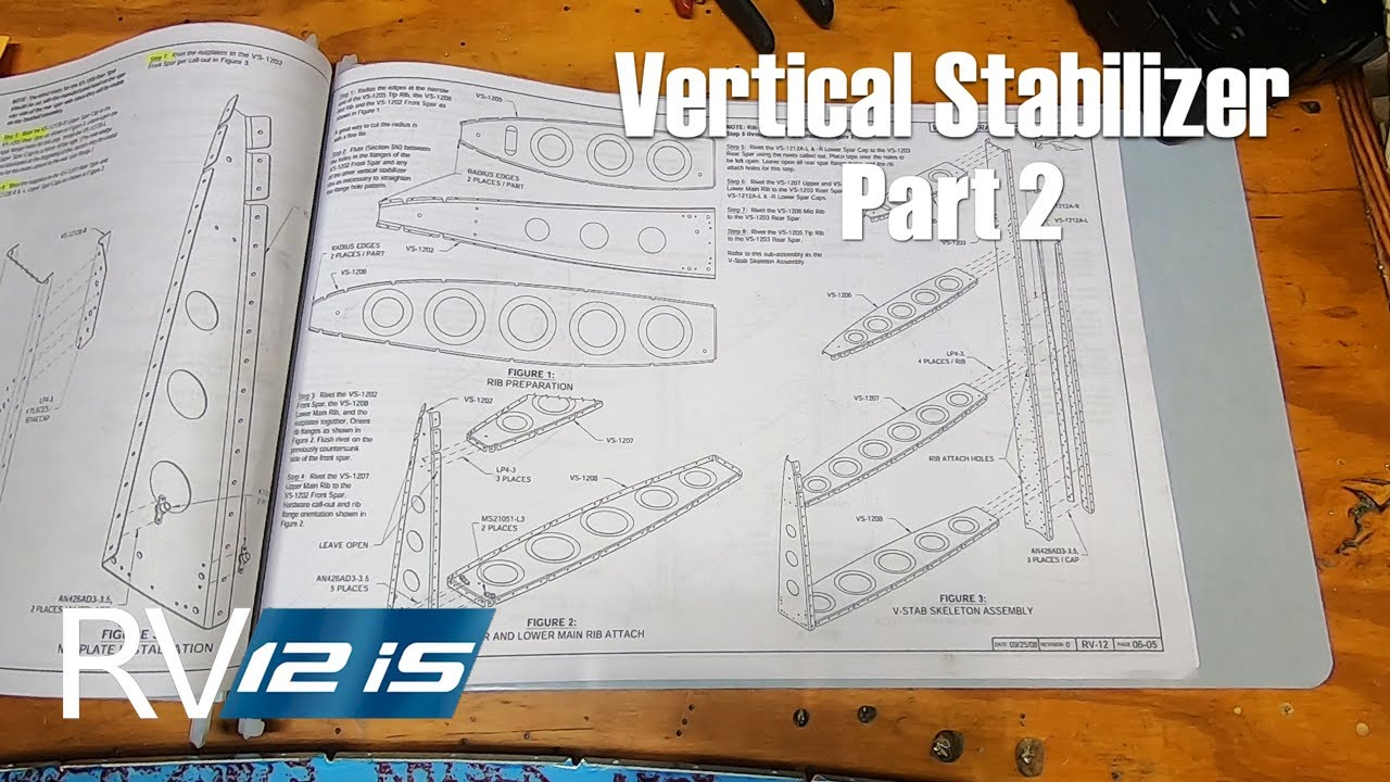 RV-12iS Project Update - Vertical Stabilizer - Part 2