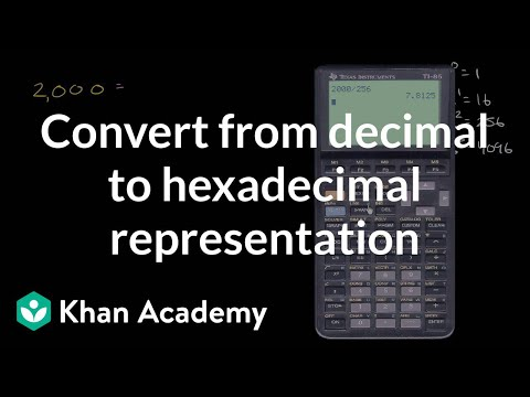 Converting From Decimal To Hexadecimal Representation Video Khan Academy