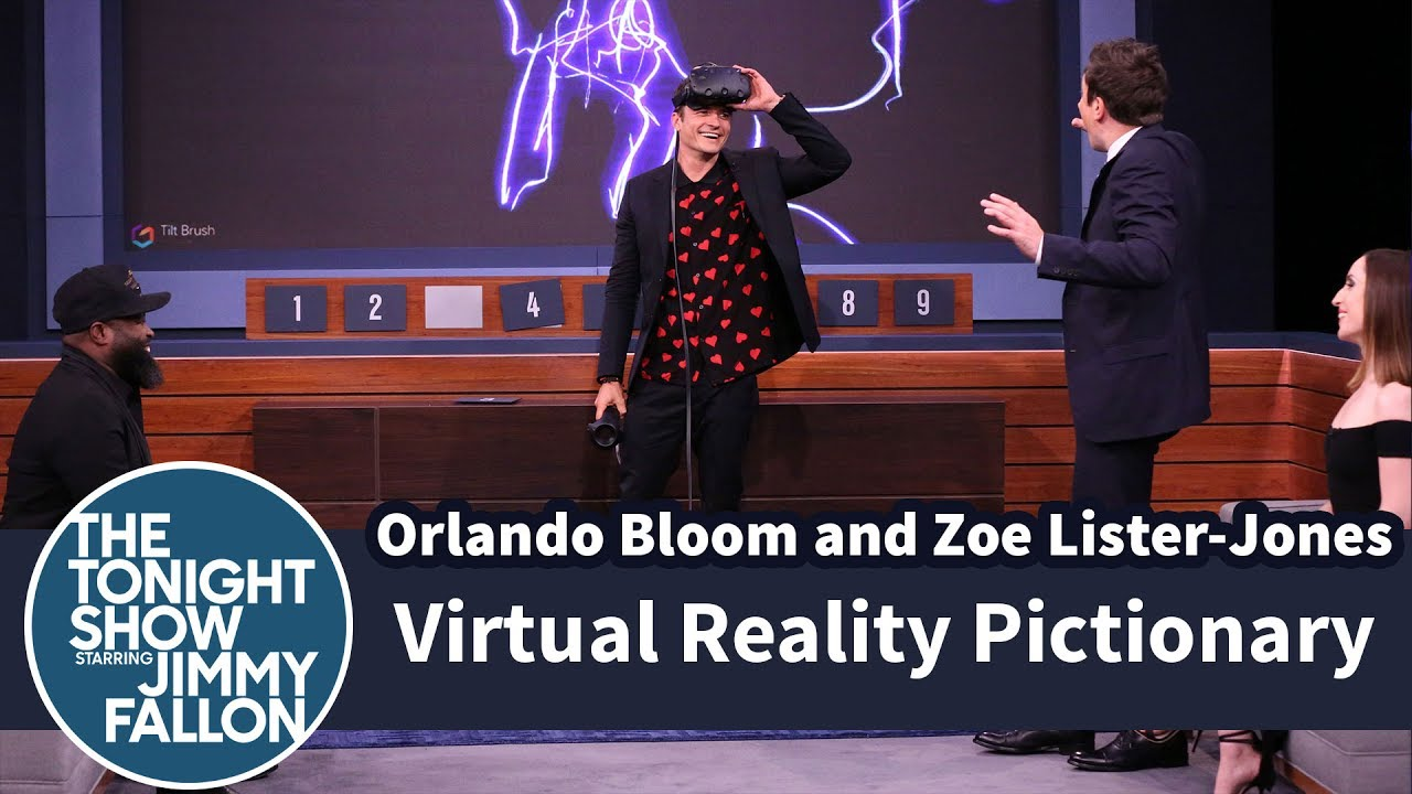 Virtual Reality Pictionary with Orlando Bloom and Zoe Lister-Jones thumbnail