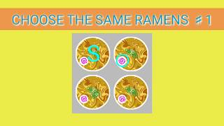 Quiz -CHOOSE THE SAME RAMENS♯1-  同じラーメンを選んでください#1 选择相同的拉面#1
