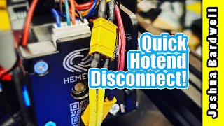 Easier 3D printer hotend maintenance: adding an XT30 plug to my heater wires