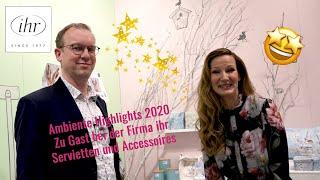 Wer hat die schönsten Servietten und Accessoires der Ambiente 2020?