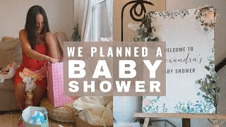PLANNING MY FRIENDS BABY SHOWER!! Cheap & Simple Baby Shower Ideas. We Vlogged The WHOLE Thing!!!