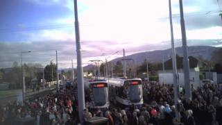 preview picture of video 'AR.Drone, TPG Inauguration Tram TCOB Bernex'