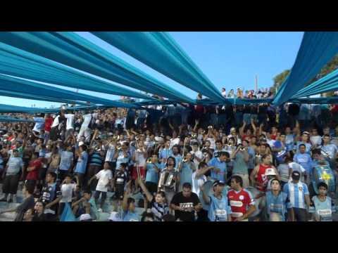"""BELGRANO VS ALL BOYS,SOLO LE PIDO A DIOS...Torneo Clausura Crucero General Belgrano 2012"" Barra: Los Piratas Celestes de Alberdi • Club: Belgrano"