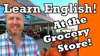 Let's Learn English at the Grocery Store (Supermarket)   English Video with Subtitles