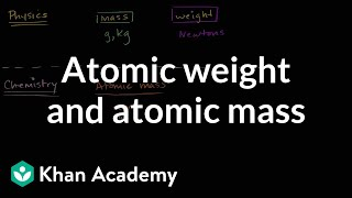 Atomic Weight And Atomic Mass