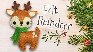 DIY Christmas Felt Reindeer (step By Step Tutorial)