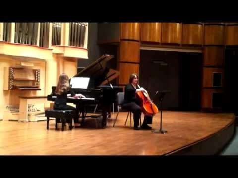 Performing the premiere of a new classical composition for cello and piano. It's an unusual piece but really wonderful!