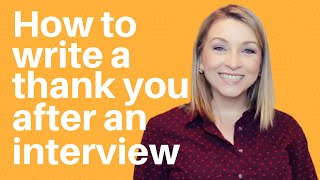 How to write a thank you note for an interview