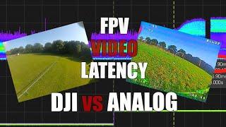 FPV Video Latency - DJI Vs Analogue Latency Comparrison