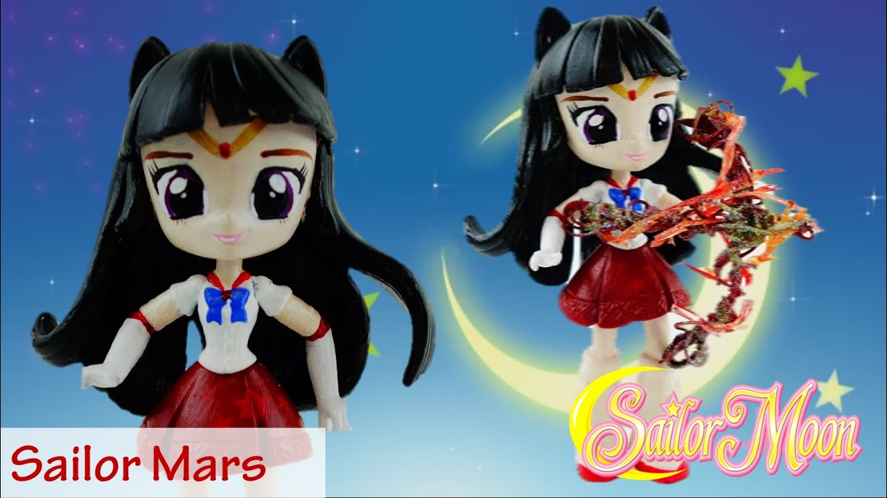 SAILOR MARS - Sailor Moon Doll Custom with My Little Pony Equestria Girls Mini DIY Tutorial