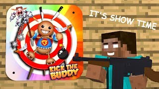 Monster School: KICK THE BUDDY GAME CHALLENGE - Minecraft Animation