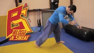 Тренировка и упражнения с борцовской резиной. Resistance band judo workout