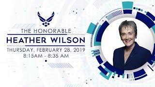 Secretary of the Air Force Heather Wilson: 2019 Air Warfare Symposium:
