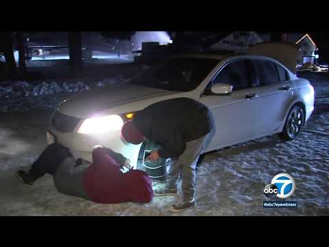 Cold temps, snow, strong winds hitting SoCal | ABC7