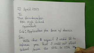 write application for absent in school due to fever - ฟรี