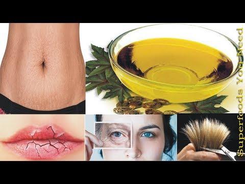 Mukha ng pigment spot castor oil pati na inilapat