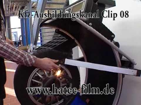 Radauswuchten Kfz-Ausbildungskanal Clip 08 Hatee-Film