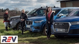 The REV Test: Big, luxury SUVs. Audi Q7 vs Land Rover Discovery vs Volvo XC90