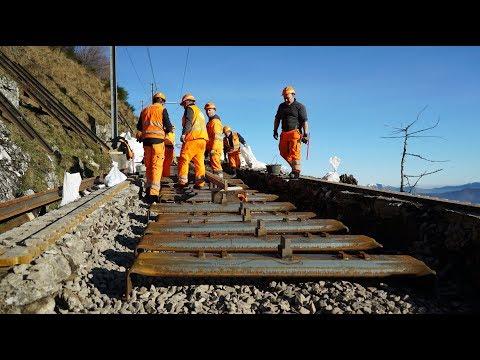 I lavori per i nuovi binari sul Monte Generoso
