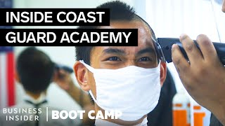 What New Coast Guard Swabs Go Through On Their First Day At The Academy | Boot Camp