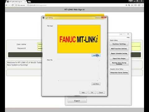 MT LINKi Customizing the Login Setting Screen