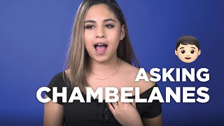 Asking your friends to be chambelanes