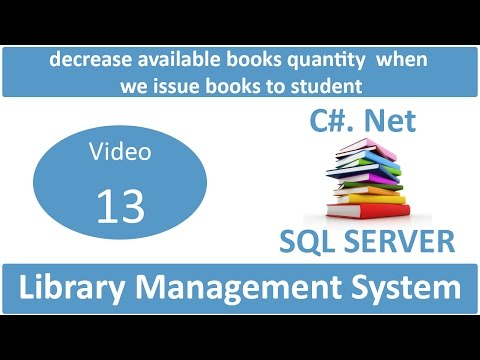 decrease available books quantity when we issue books to student