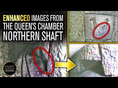 NIEUW: verbeterde afbeeldingen van de GROTE PIRAMIDE Queen's Chamber Northern Shaft