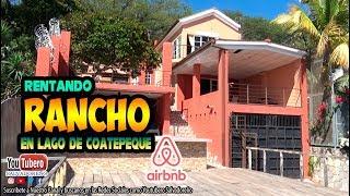 Airbnb Rancho Chanell en lago de Coatepeque | El Salvador