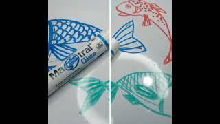 Dibujando con Azor: Magistral | Cómo hacer un pescado | aprender a dibujar en pizarrón blanco