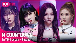 [aespa - Savage] Comeback Stage   #엠카운트다운 EP.729   Mnet 211014 방송